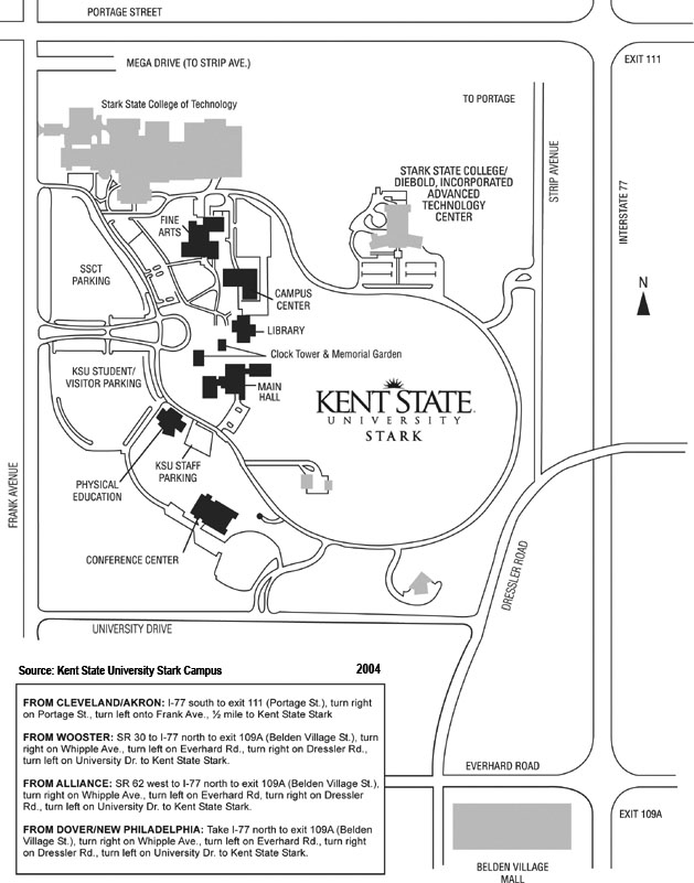 Kent State Campus Map Cwh on