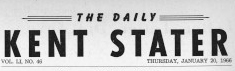 Daily Kent Stater masthead