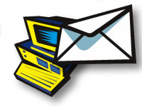 Computer and Envelope - email icon