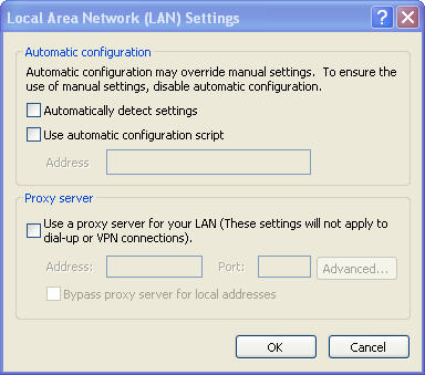 Unproxy screenshot for Windows Internet Explorer
