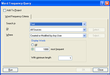 NVivo 8 Word Frequency Queries 2
