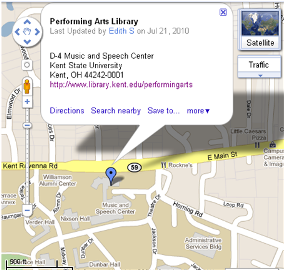 Directions to the Performing Arts Library