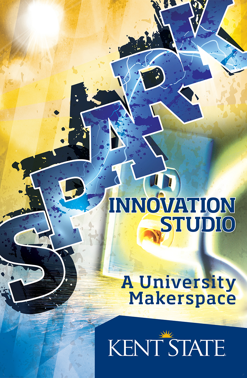 "web graphic for ""Spark Innovation Studio - a university makerspace"""