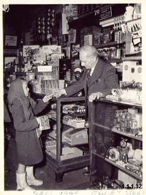Photograph of Arthur J. Trory in Ellet Pharmacy