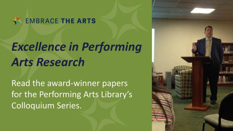 Show more about Excellence in Performing Arts Research