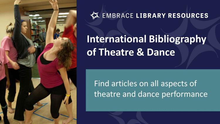 Show more about Search for journal articles about theatre and dance