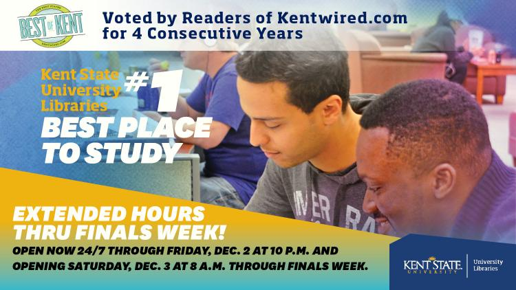 Show more about Extended Hours Thru Finals Week! Open now 24/7 through Friday, Dec. 2 at 10 p.m. and opening Saturday, Dec. 3 at 8 a.m. through Finals Week.