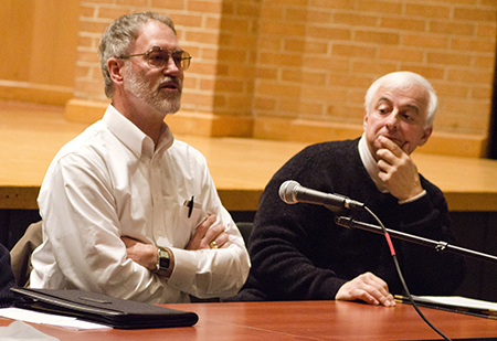 Pannelists speaking during the 2011 Careers for Performing Arts Majors event.